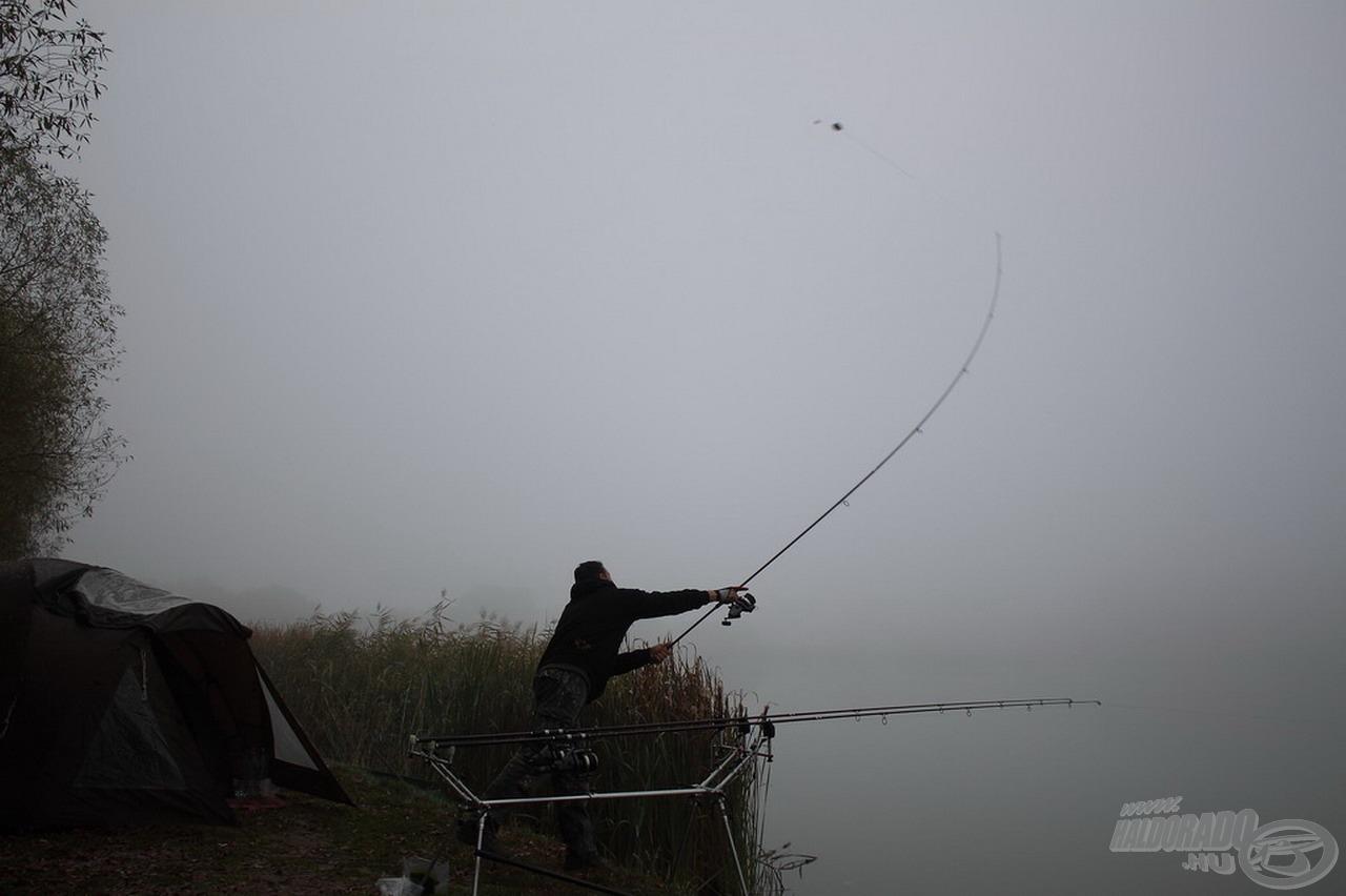Hatalmas lendülettel kezdtük meg a horgászatot
