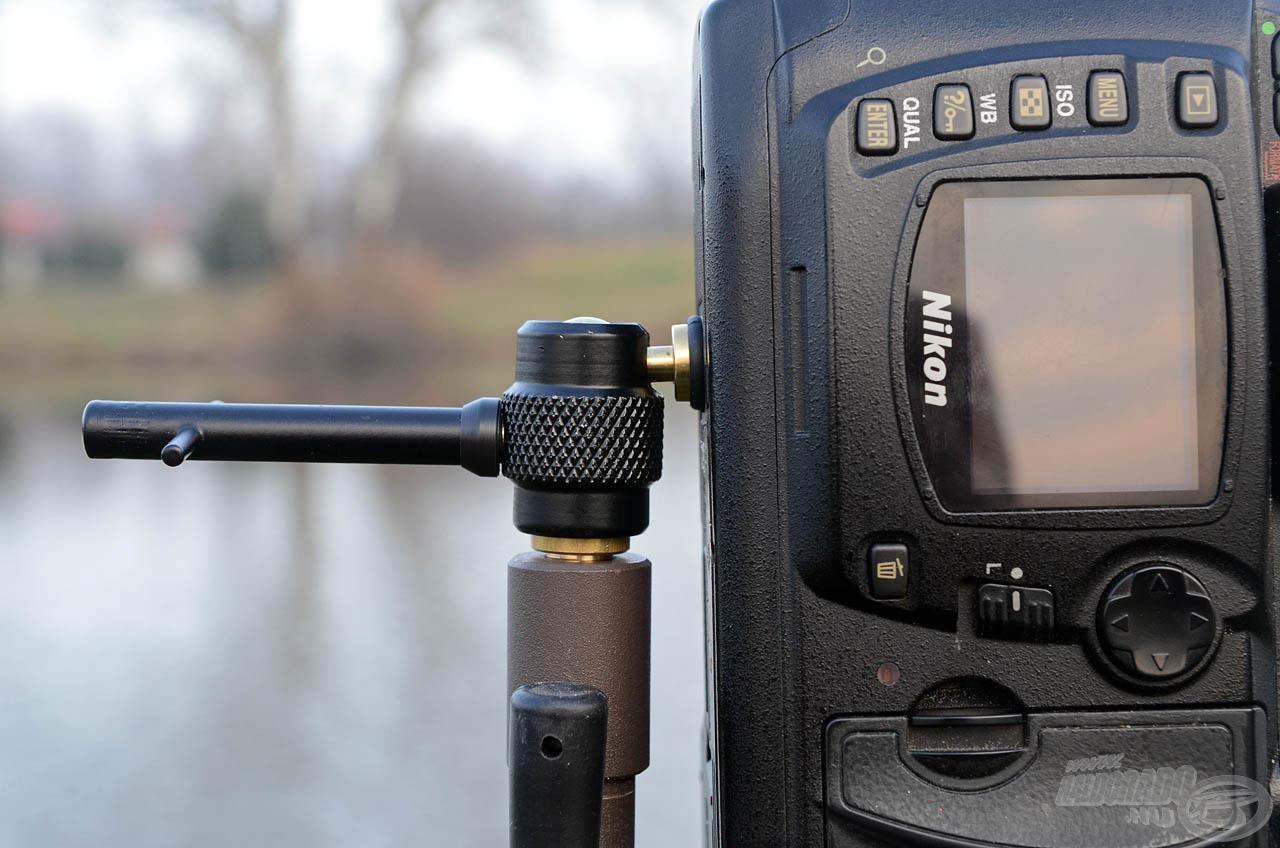 A drága fotóeszközöket biztosan tartja a megfelelő pozícióban