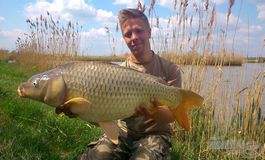 A nap utolsó pontya volt ez a 8,50 kg-os példány. 72 kg-ot sikerült fognom 10 óra horgászat alatt…