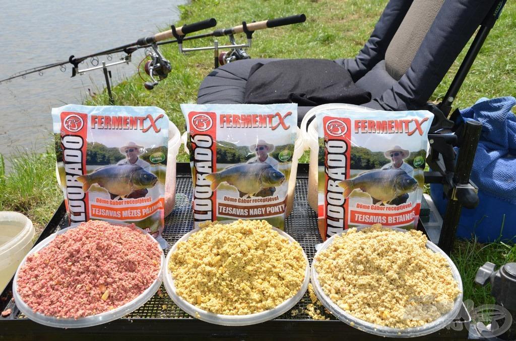 A nyári horgászatok ászai a FermentX etetőanyagok, amelyek horgászatra kész változatban kerülnek forgalomba