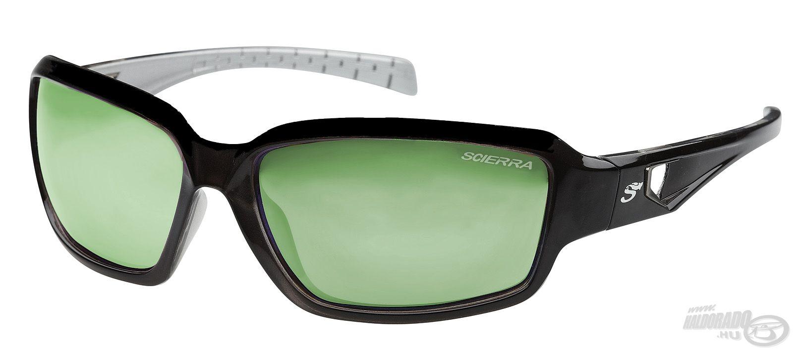Ez a szemüveg két színben, Mirror Brown / Green...