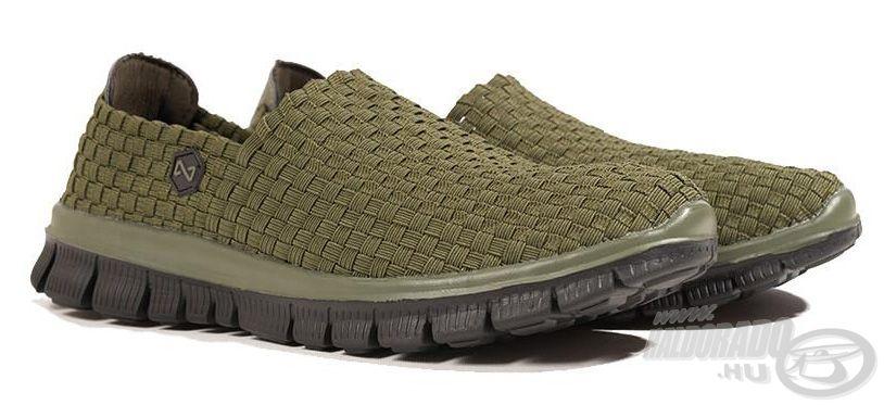 A Navitas Weaves Green cipő kényelmes viselet a horgászatok alatt