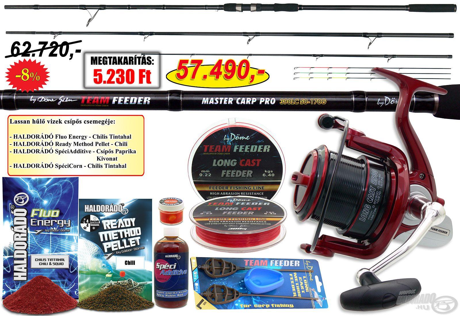 Ezt a szettet a távdobó feeder horgászat szerelmeseinek ajánljuk!
