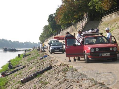 … ami után ki-ki elszállította horgászcuccát a Tisza-partra