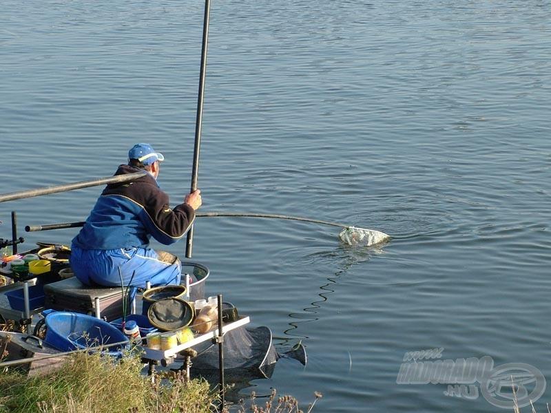 Günter Horler, az idei egyéni Európa-bajnok látványos horgászatot mutatott be