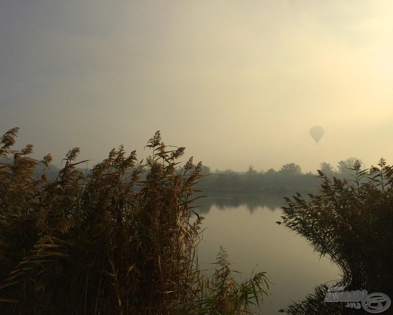 A felszálló ködben nemcsak a tavat pillanthattam meg