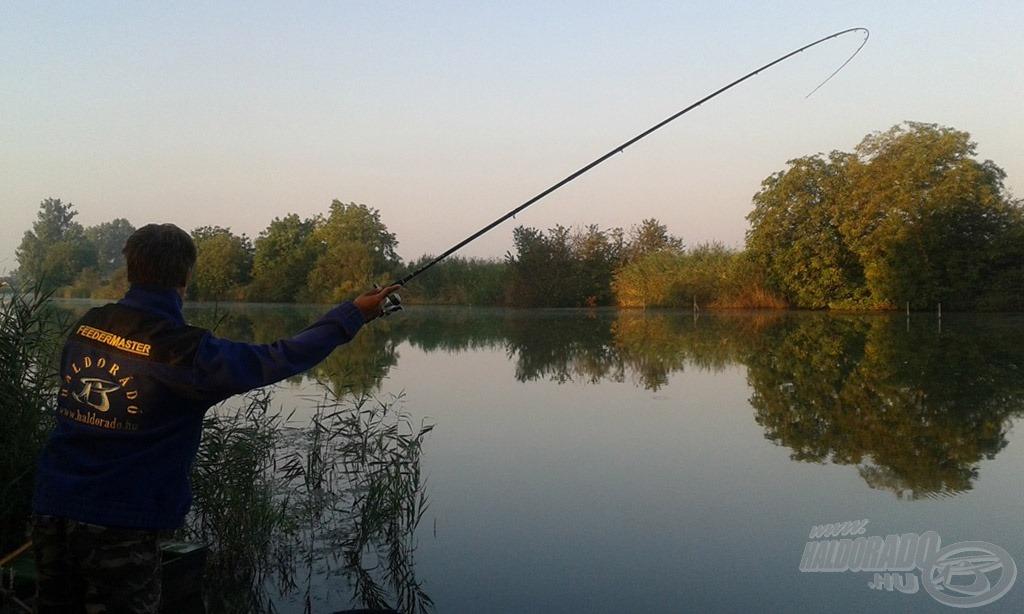 Az első hal azonnal próbára tette a felszerelésem