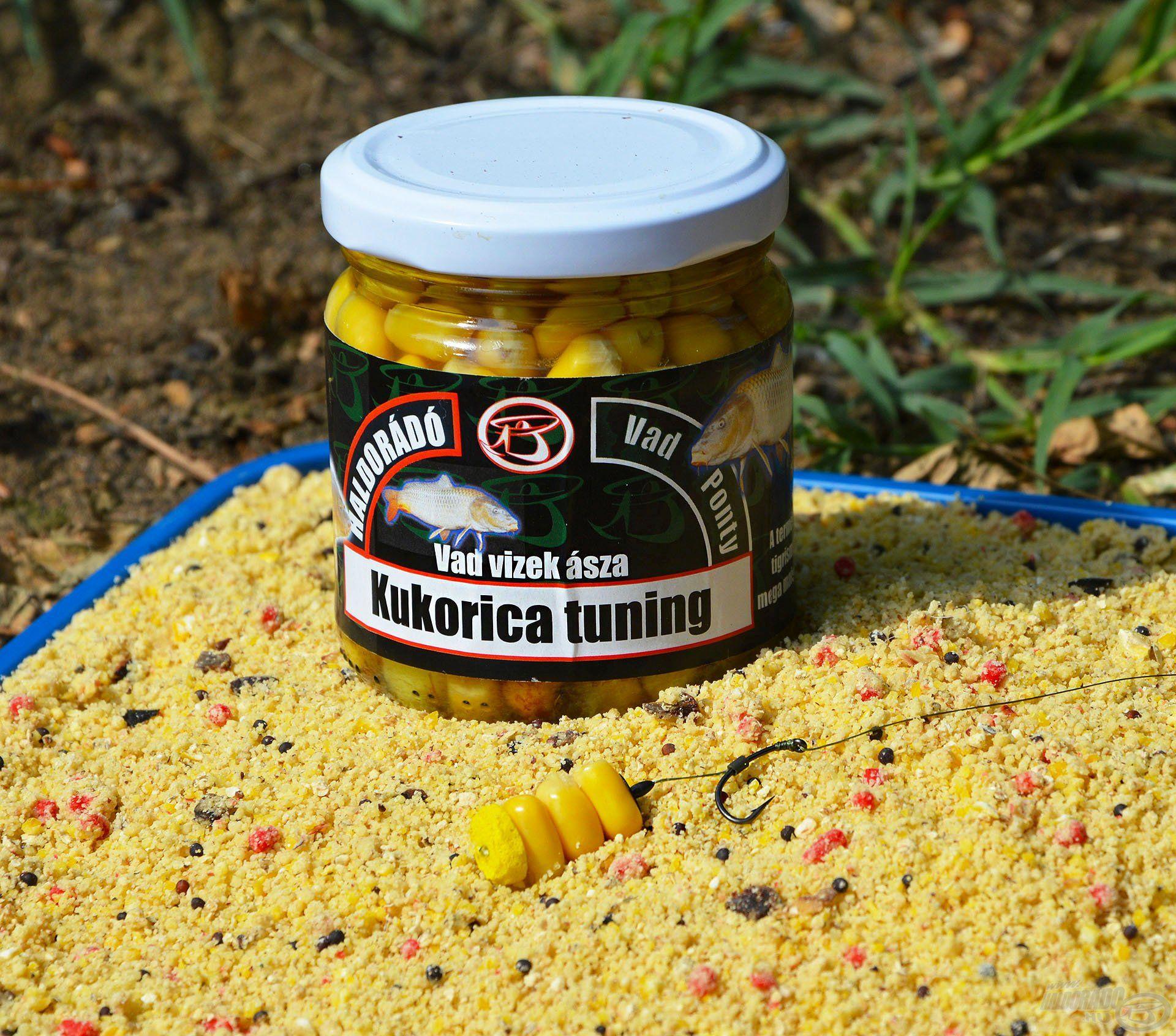 A Vad Ponty Kukorica Tuning az egyik legegyszerűbb és legfogósabb pontyos csali, ami sok éve elmaradhatatlan részét képezi a csalis táskámnak, bárhova megyek horgászni