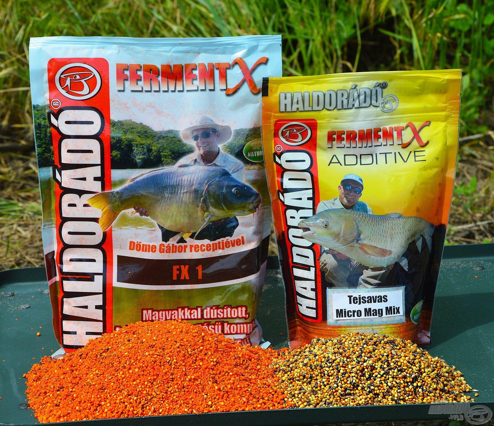 Két szuper újdonságot kínáltunk a gyermelyi halaknak! A kosarakba az új FermentX FX 1 etetőanyag, illetve a FermentX Additive Tejsavas Micro Mag Mix került