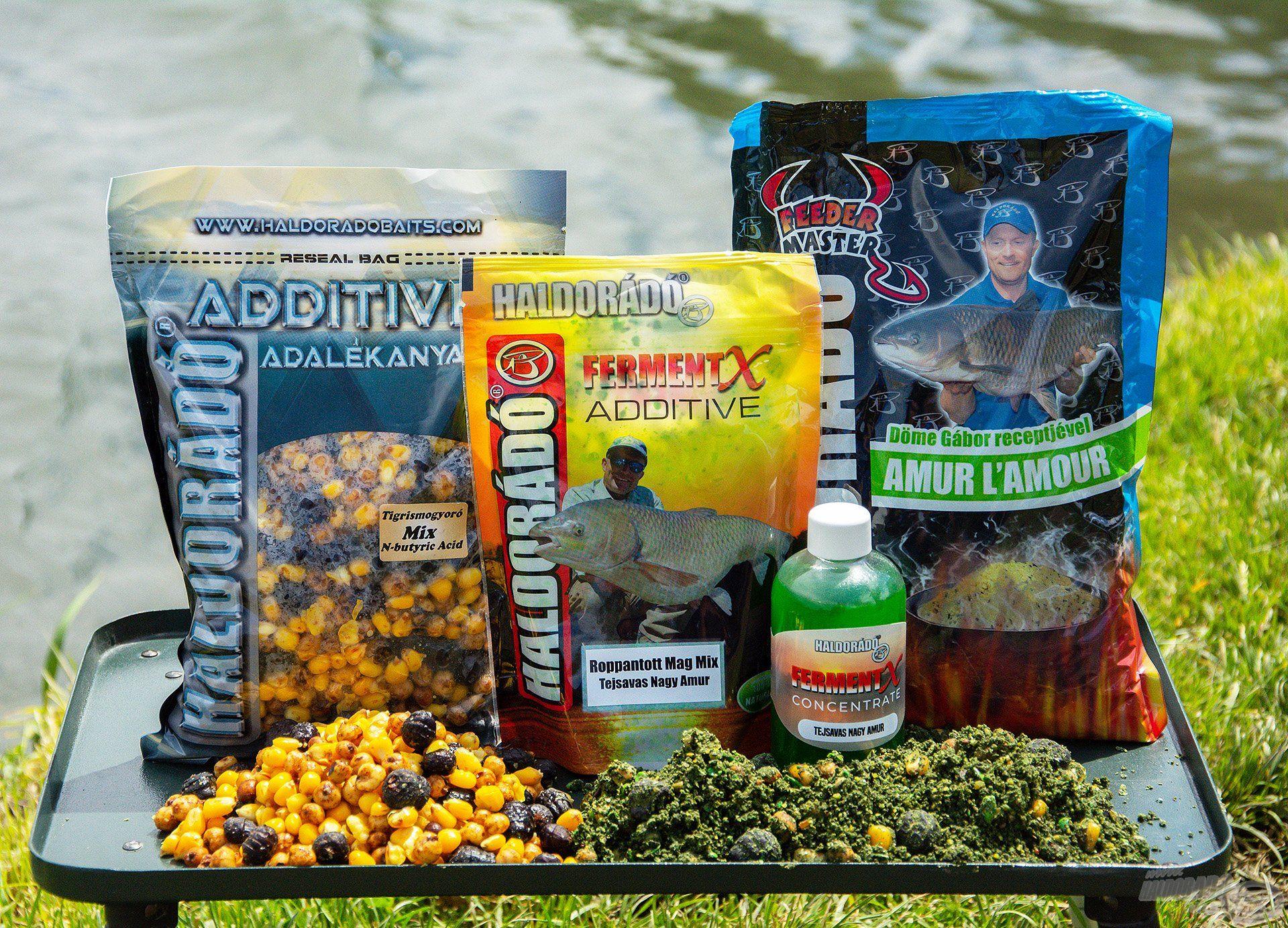 A Mátravíz horgásztavon használt Lucernás-Tejsavas Nagy Amur receptem összetevői