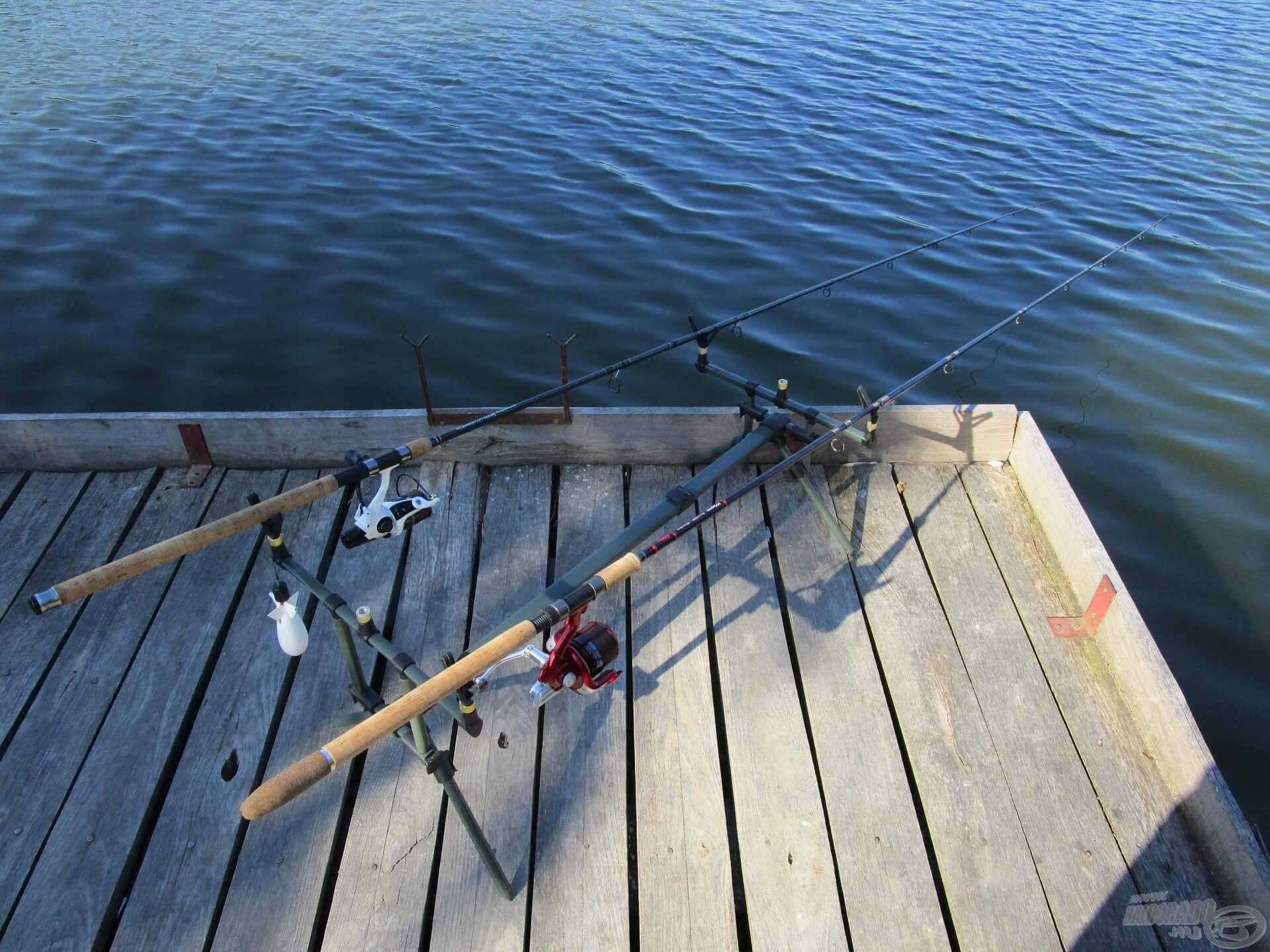 Az etetést könnyen meg tudtam horgászni a 3,60-as bottal, a kereső horgászathoz a hosszabb pálcát használtam