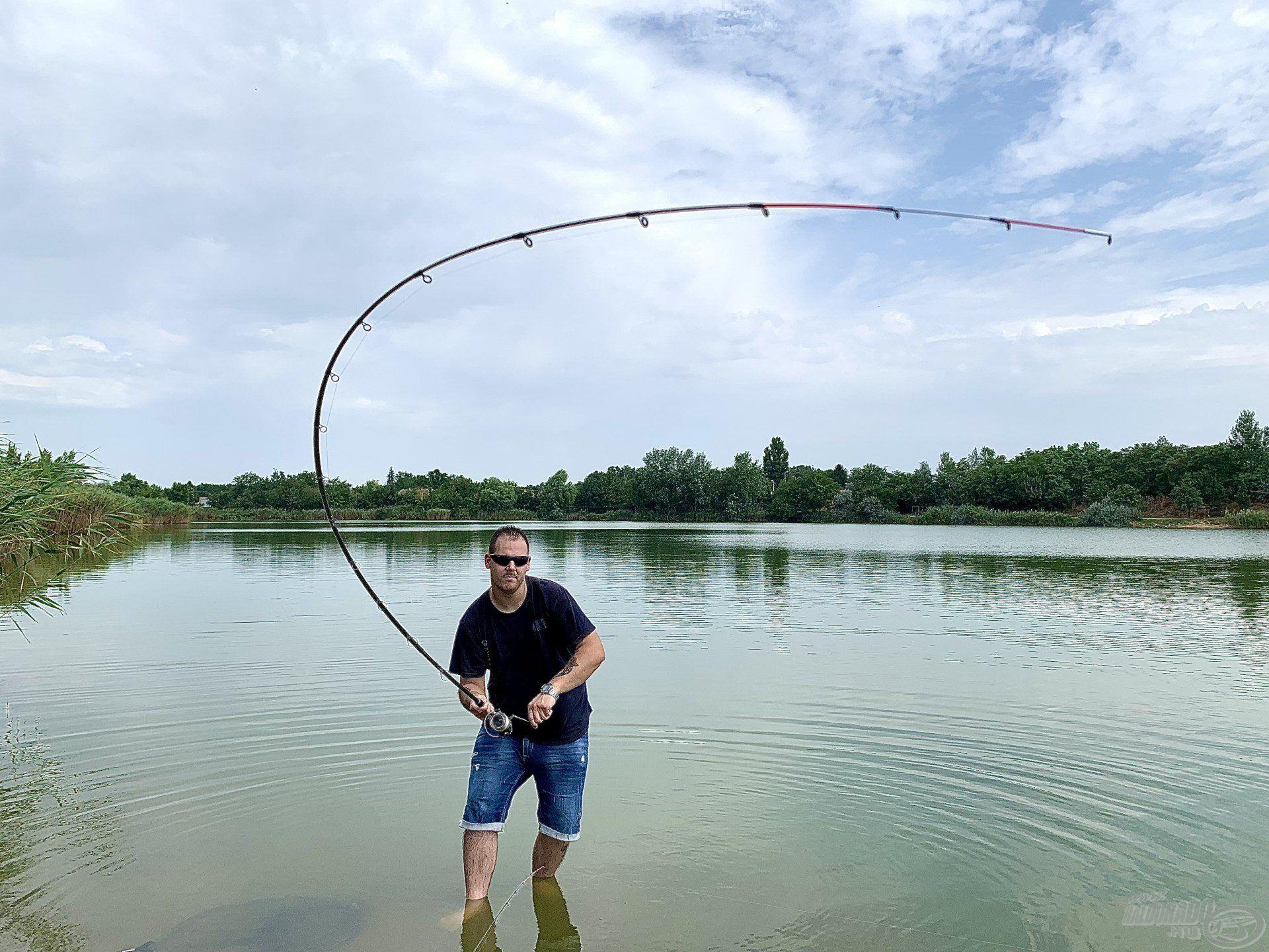 A precíz és pontos horgászat meghozta a várt eredményt…