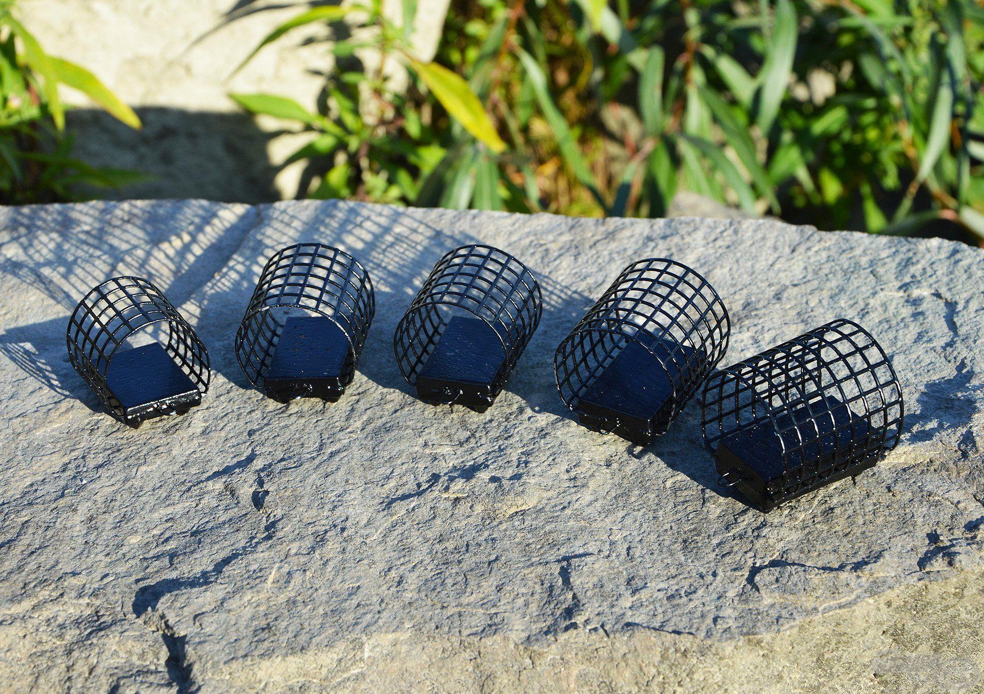 Három méretben, méretenként eltérő öntömeggel készülnek a River Feeder kosarak