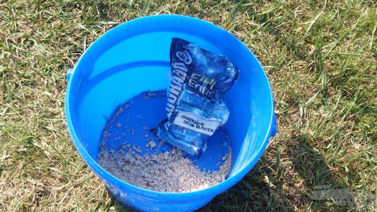 A hideg vízben is eredményesen használom ezt az etetőanyagot