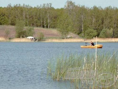 A bojlis horgászatok során ajánlott a csónakhasználat