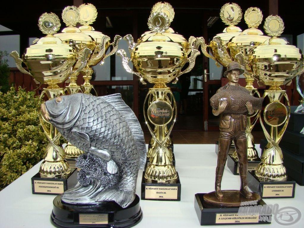 Íme, egy-egy önálló verseny díjai