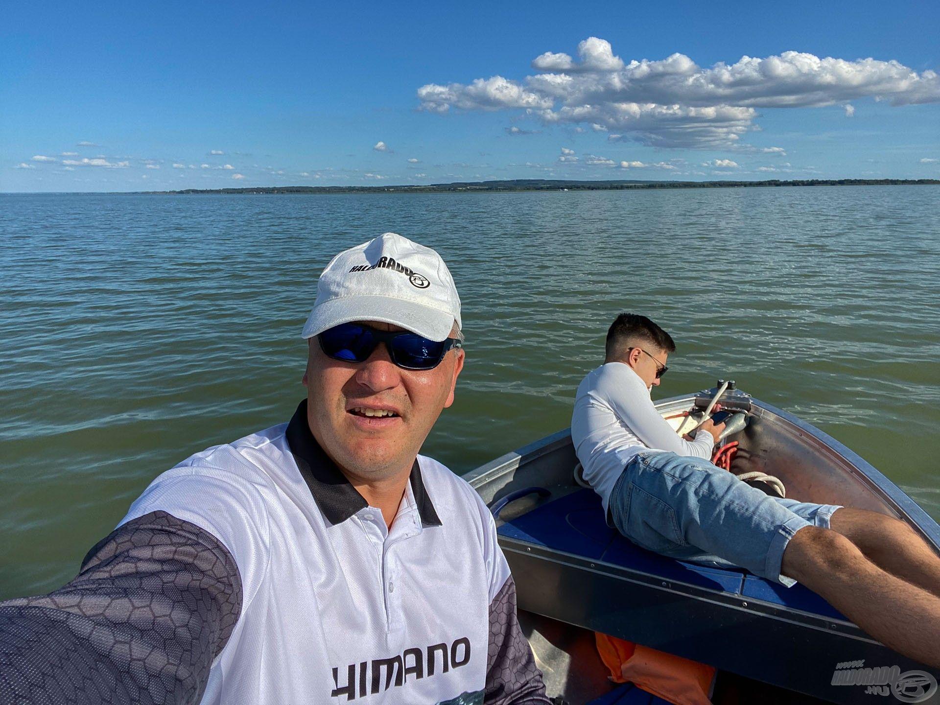 Előző nap is kimentünk 2 órára halat bogarászni…