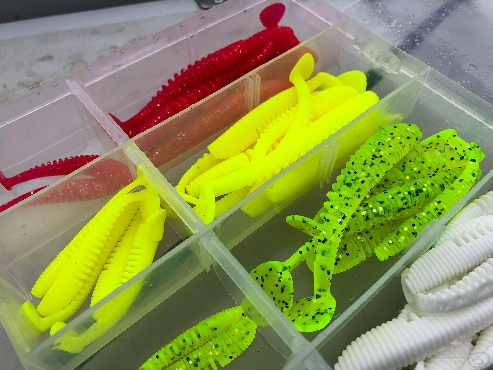 Nagyon megkedveltem ezeket a Nevis Impulse Shad gumihalakat, hiszen Awaruna jellegű formája van, plusz ez a zöld szín nagy favorit