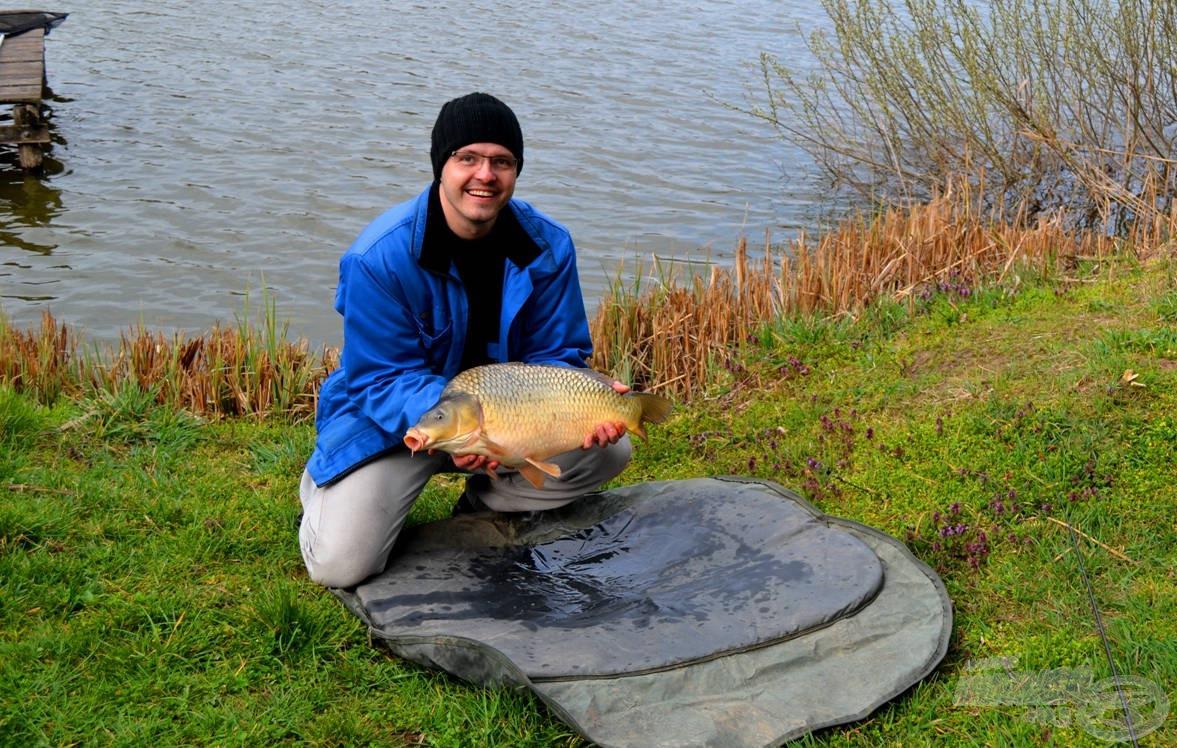 A horgásznap első potykája 4 kiló és 70 deka súlyú volt