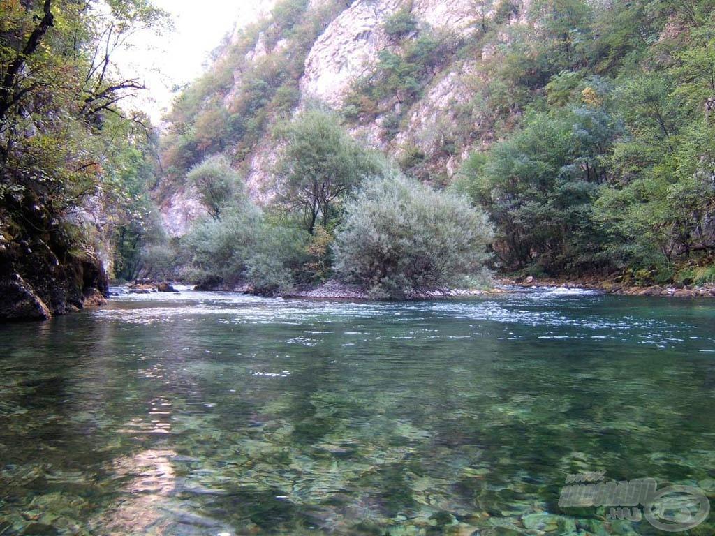A folyó itt kiszélesedik és halat is rejt. Csak meg kell fejteni a hozzáférési kódot…