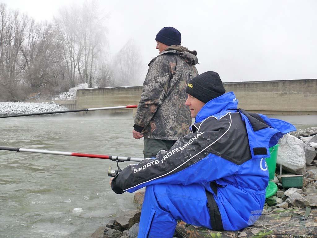 Ezen a helyen volt a víz a legmélyebb: meghaladta az 5 métert a 6-os bolognai spicce alatt, de ha a halak ezt szeretik?!