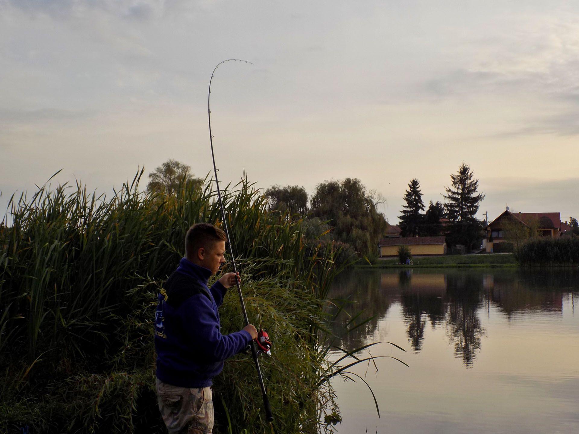 Szeretem, ha így indul a horgászat! Már rögtön az első dobásomat spiccgörbítős kapás követte