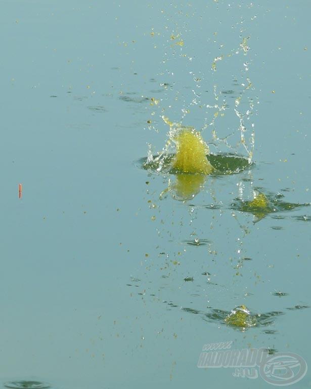 A belőtt gombóc vizet érés után rögtön nyit