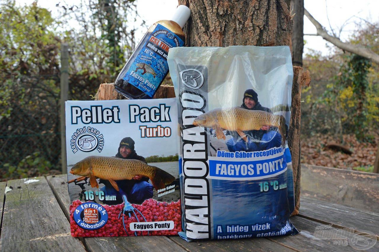A Fagyos Ponty termékcsalád már évek óta a hideg vízi horgászatok kedvelt csalogatóanyaga