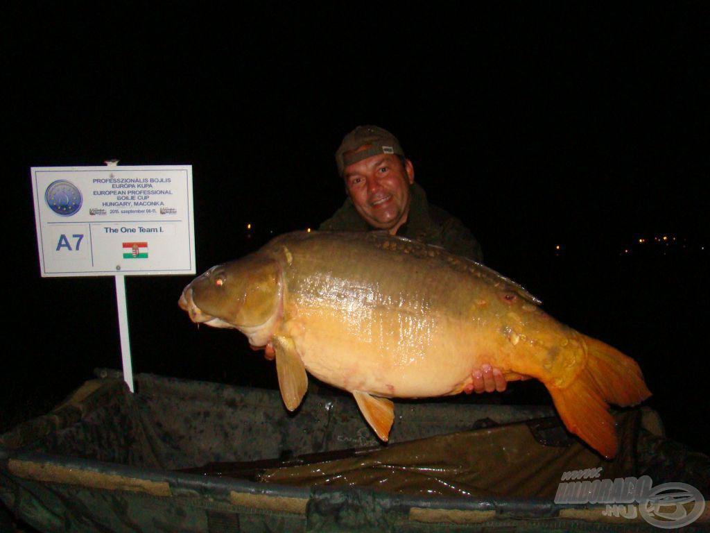 Ács Józsi hala a 18 kg közelében