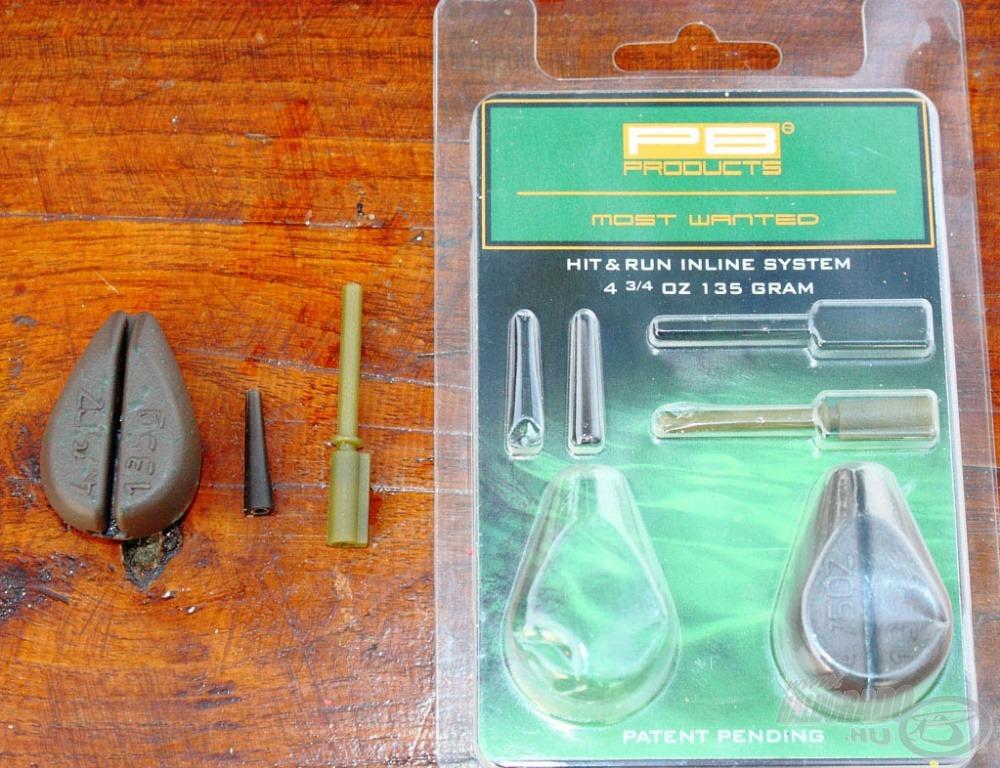 A belső zsinórvezetése rendszer három darabból áll, az egyik maga a vágott ólom, a második a megnyújtott in-line klipsz, a harmadik a gumikúp