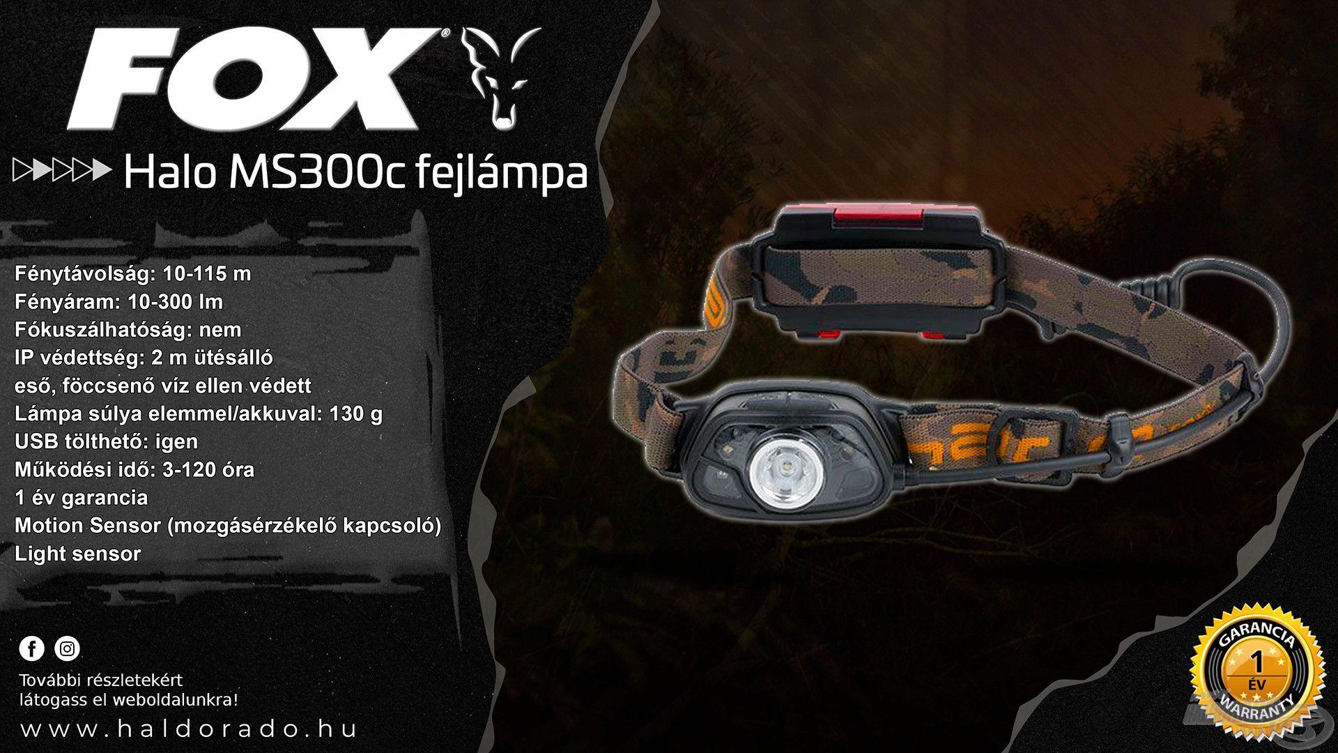 A Halo MS300c fejlámpa a legújabb, legmodernebb FOX típusok egyike, mely számos remek tulajdonsággal rendelkezik