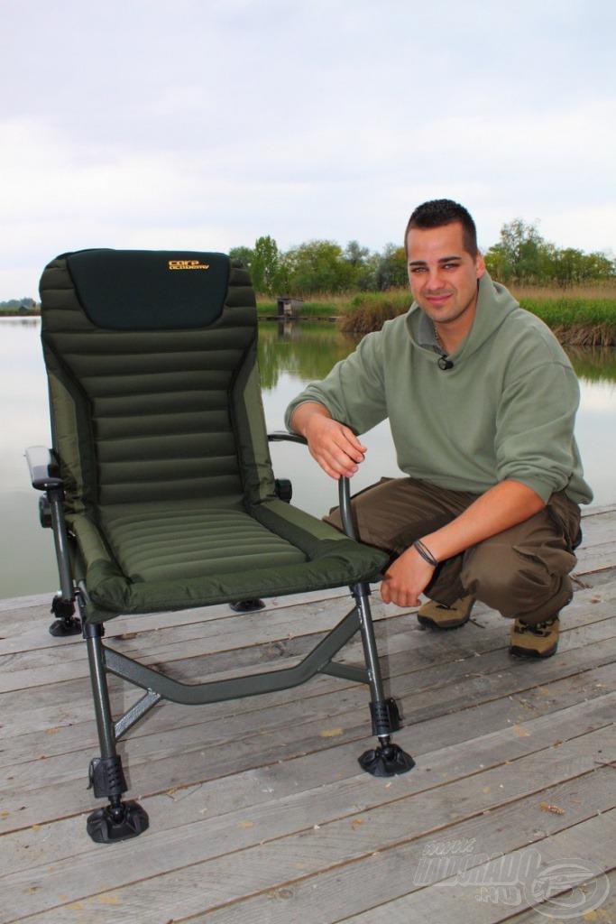 A Haldorádó Carp Team, azaz mi is ezt a széket választottuk túráinkra!