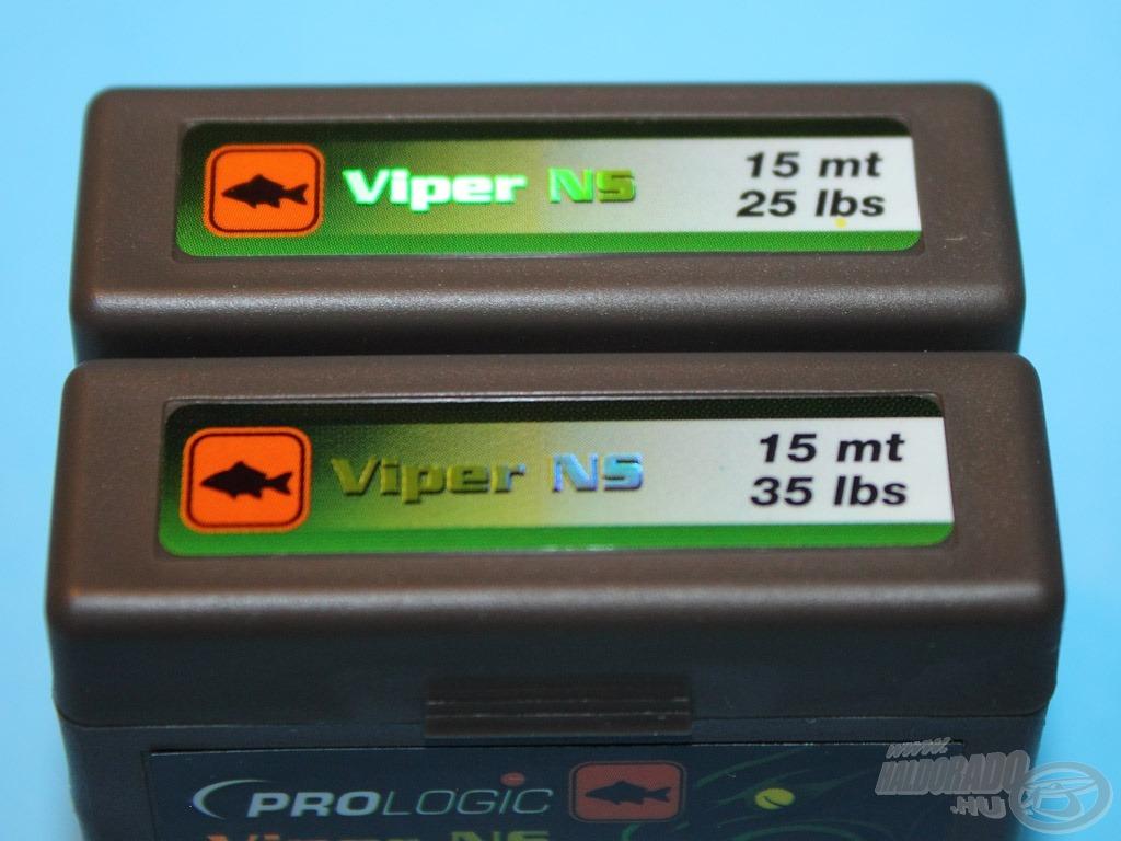 Hogy ne kelljen mindet kihúzgálni a nagy rendszerező dobozból a tetején is megtalálhatóak az információk - A Viper NS-t 2 méretben, 25 és 35 lbs teherbírású változatban forgalmazzuk