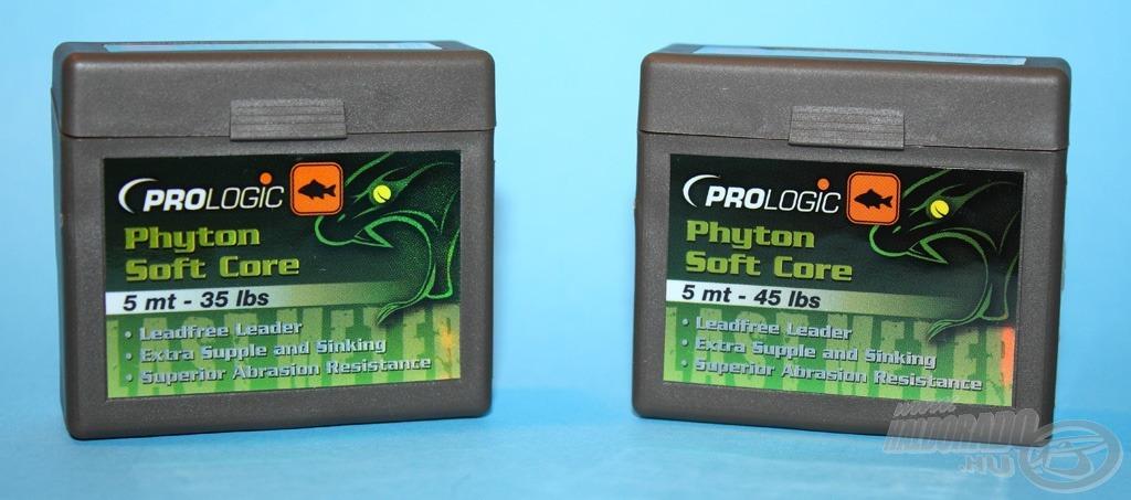 A Phyton Soft Core egy ólommentes, mégis nehéz előtétzsinór
