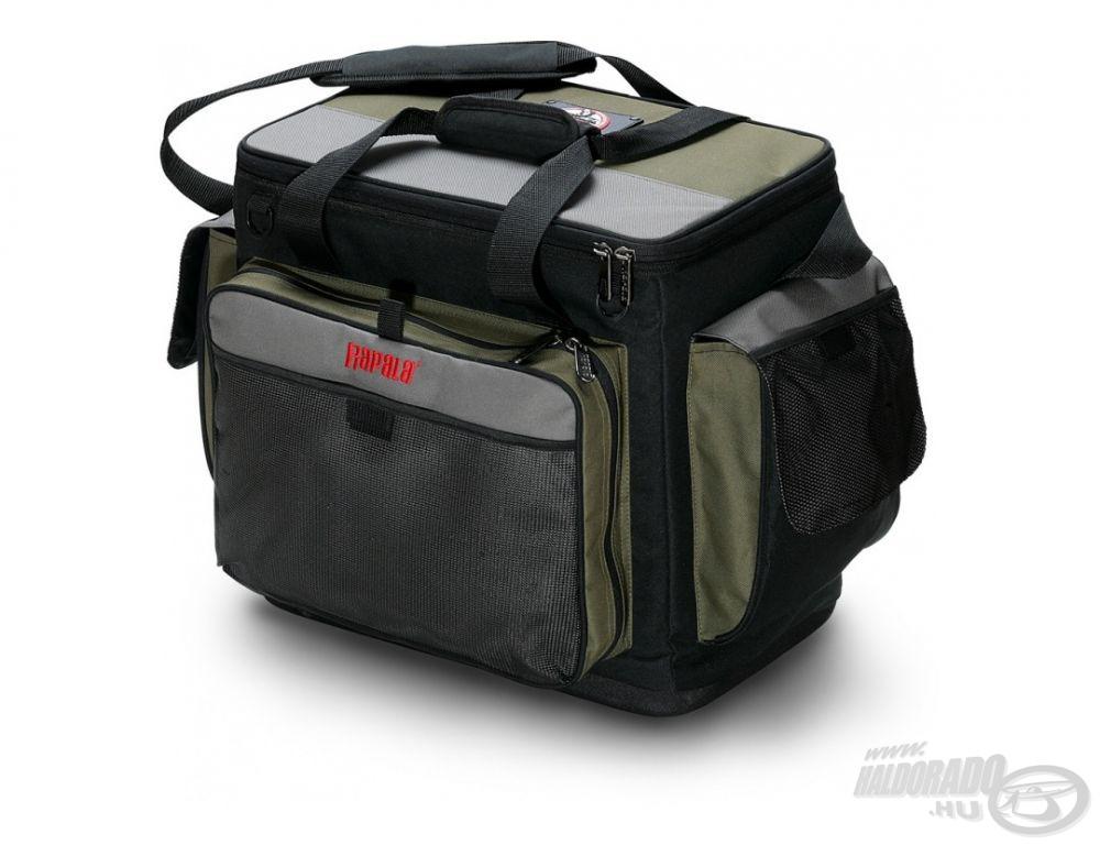 Dekoratív, elegáns kialakítású és maximálisan a pergető horgászok igényeihez szabott táska a Rapala Magnum!