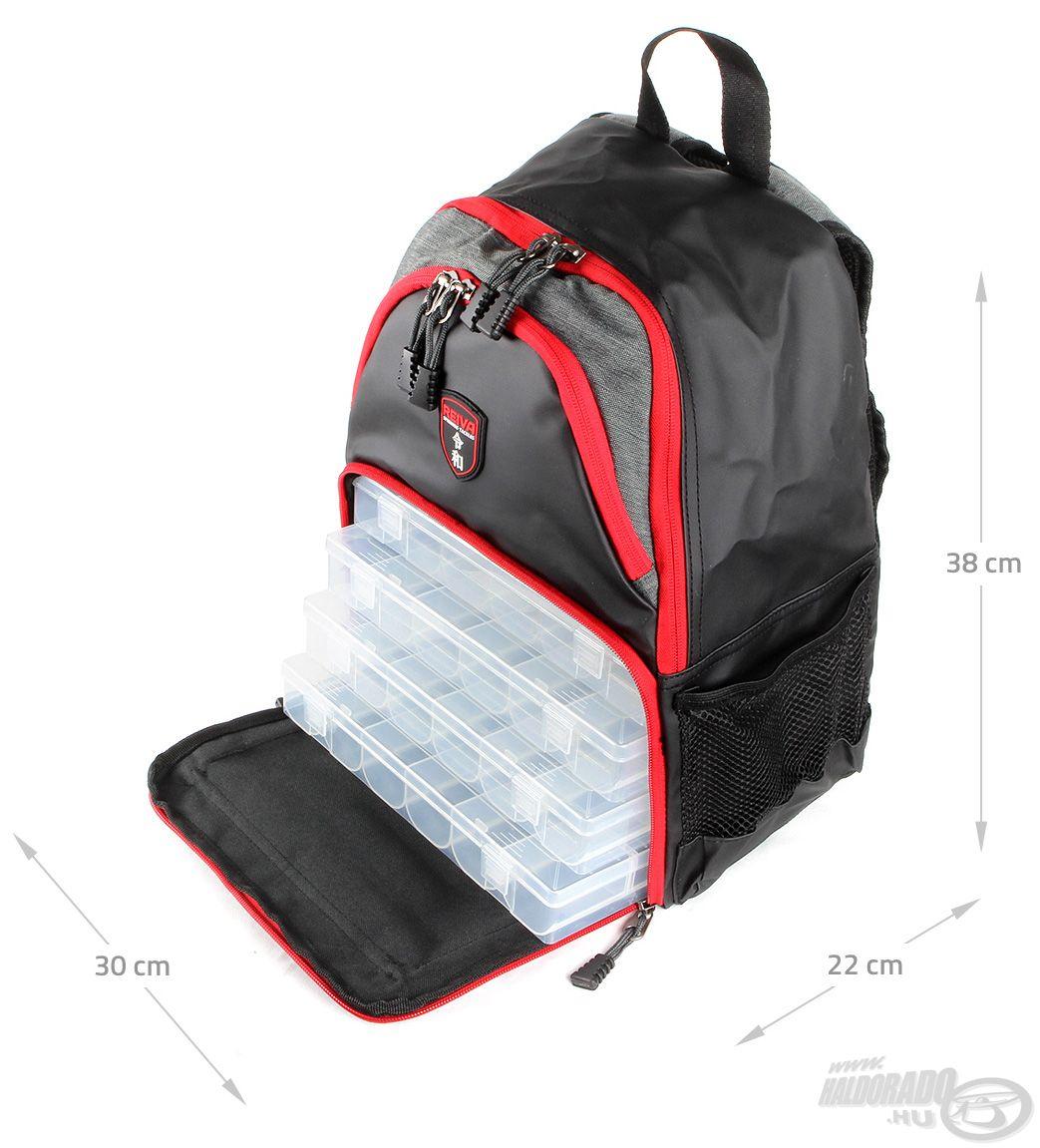 Ehhez a táskához 4 db átlátszó, méretben pont a táskába illő műanyag doboz is jár
