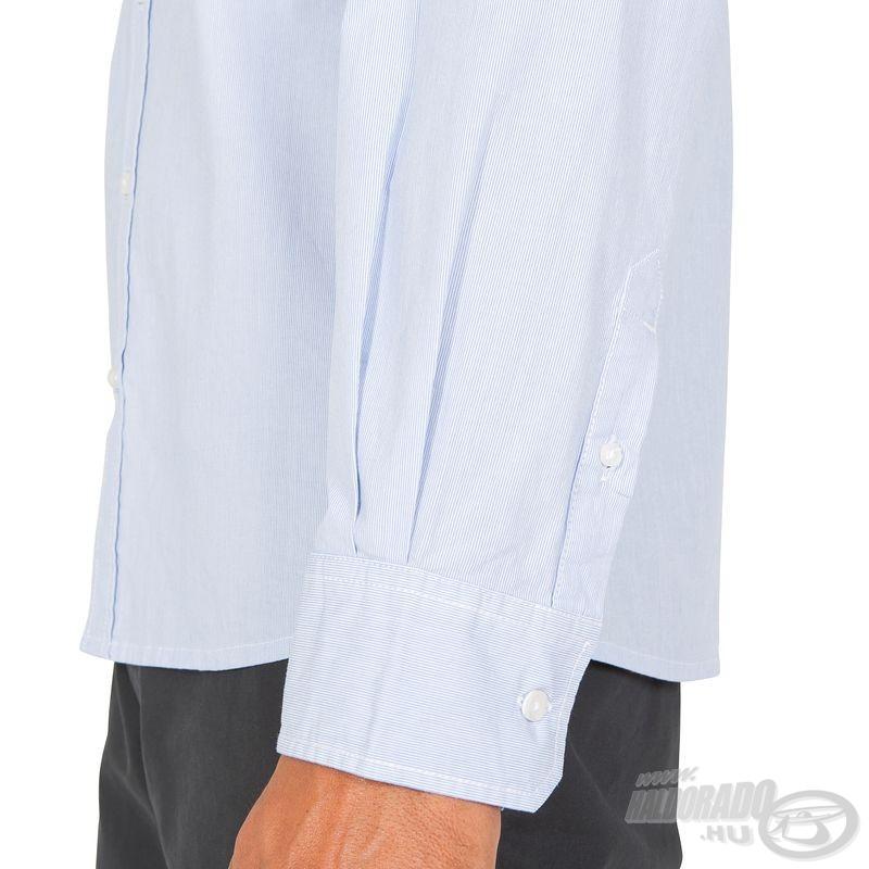 Az ingujj a csuklónk pereméig megbízható védelmet nyújt az erős napsütés ellen…