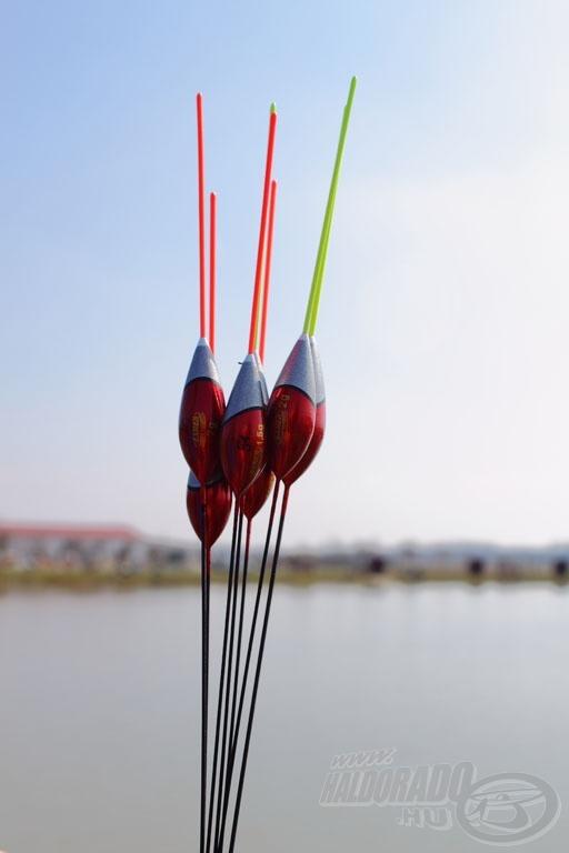 Exner Lamia úszók, mint egy tavaszi csokor… spiccbotos horgászatnál 1,5 grammtól 3 grammig az ideális méret