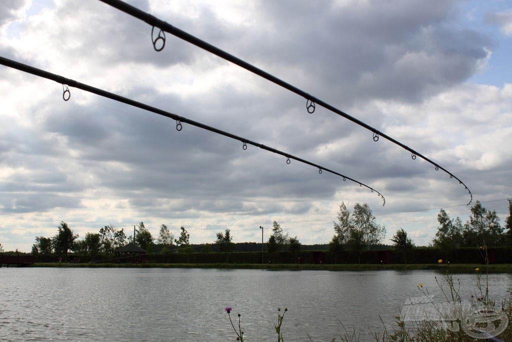 Ahogy elkezdtem a horgászatot, lassan eloszlottak a felhők… igaz, már átléptünk a délutánba