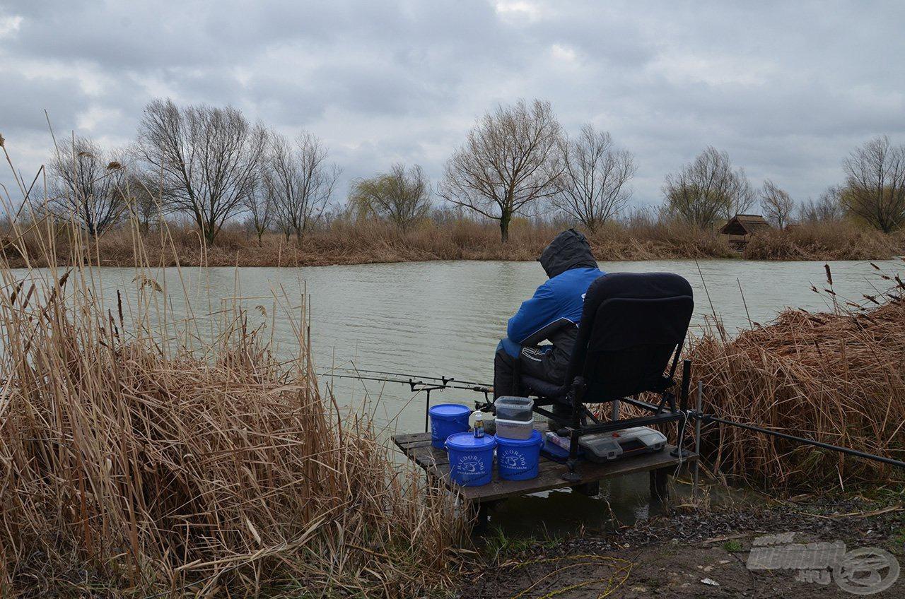 A szeszélyes tavaszi időjárás engem nem tántoríthat el a horgászattól!