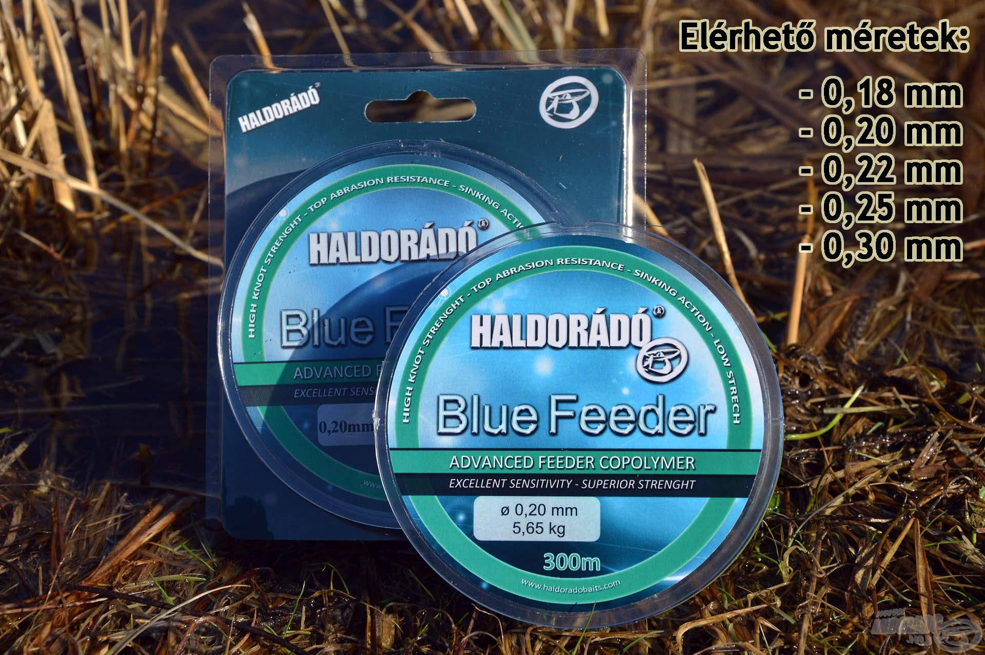 A Blue Feeder zsinórcsalád szintén 5 népszerű méretben kerül forgalomba