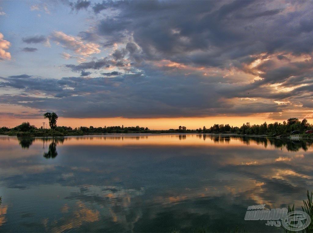 Csodálatos naplementével búcsúztattam az első napot