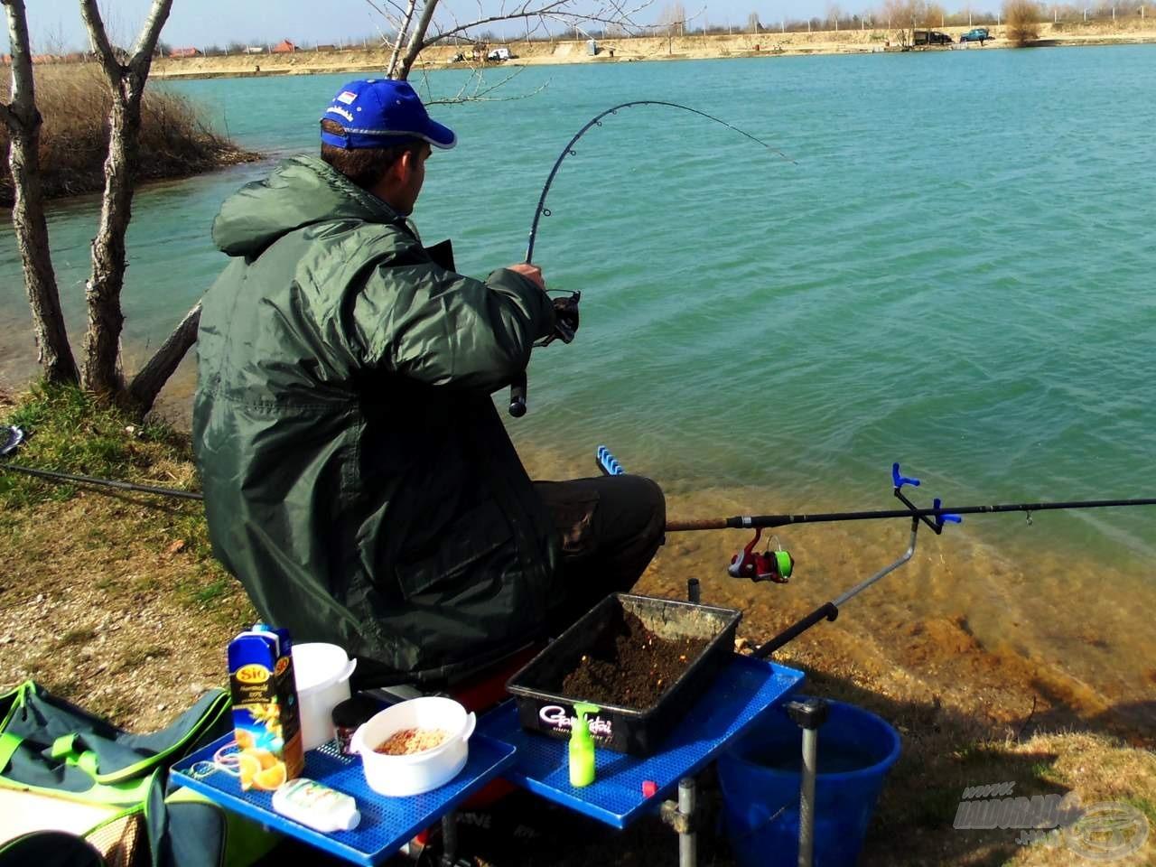 A hideg víz ellenére megdolgoztattak minket a halak