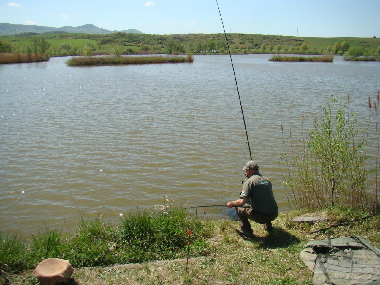 Valkó Tamás most itt horgászott