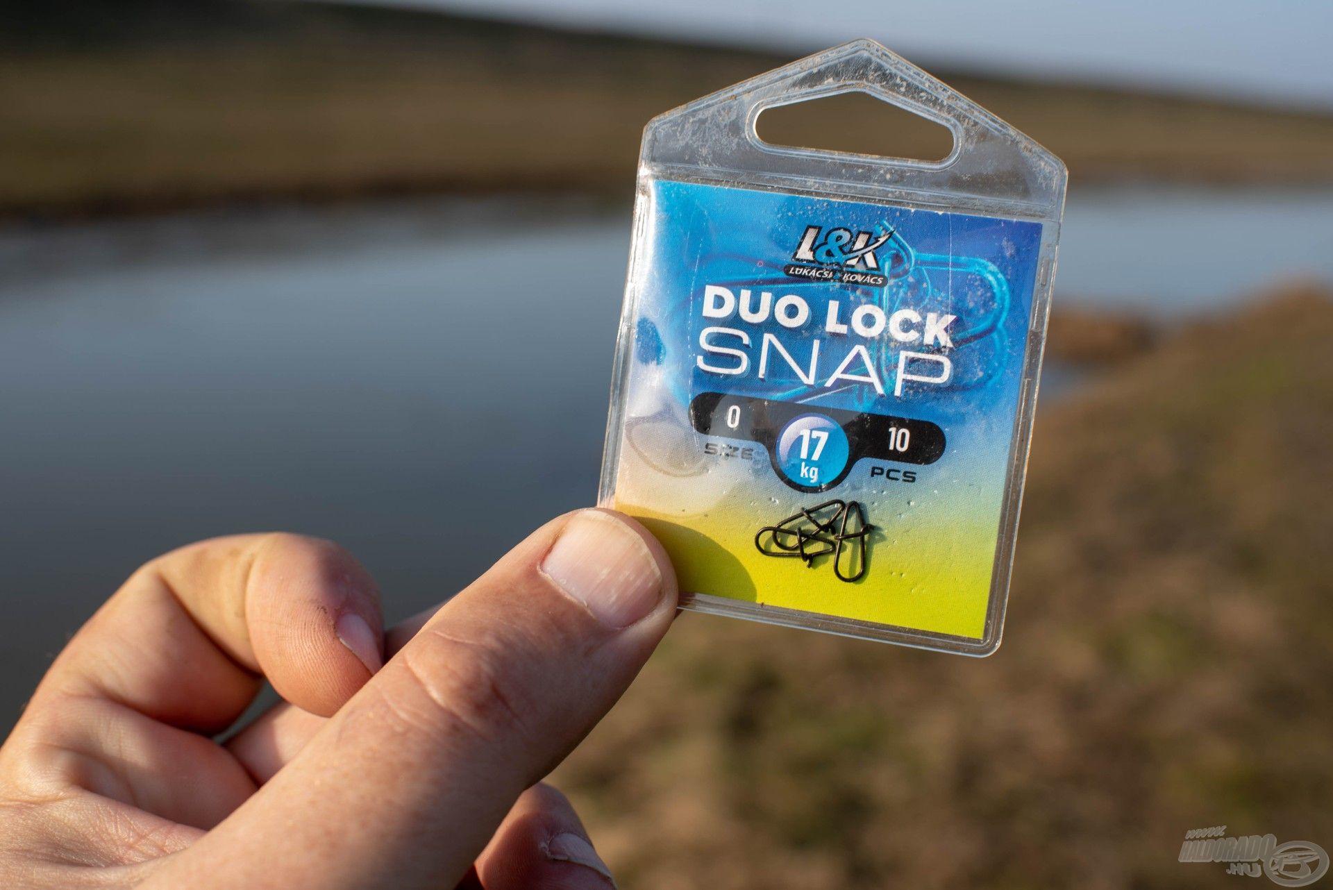 Az L&K snap kapcsok rendkívül erősek, és ami fontos, feketék, így nem keltenek gyanakvást a ragadozókban – a fényes változatokkal tiszta vízben viszont lehetnek problémák