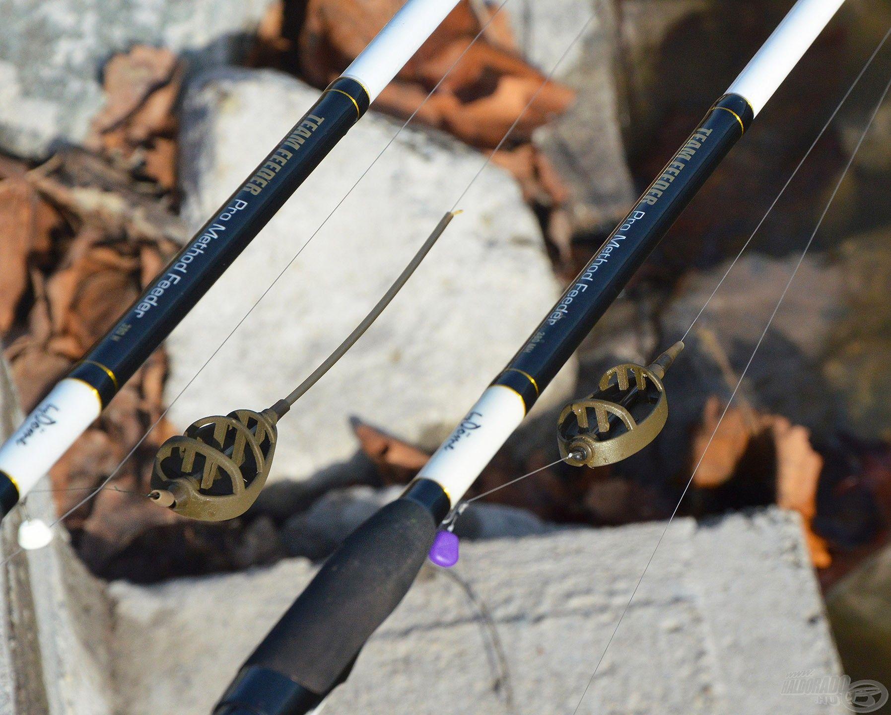 A By Döme TF Vario és Long Cast Method Feeder kosarak segítségével egyszerűen és gyorsan összeállíthatók a fogós végszerelékek