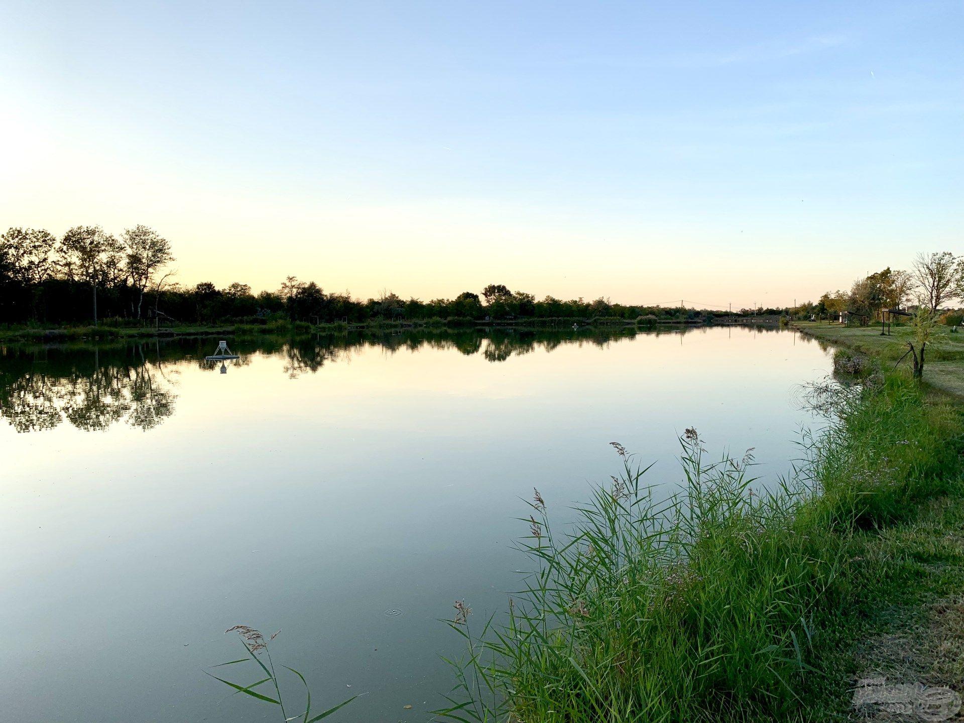 """Őszi horgászatom helyszíne a Baktói Bojlis Horgásztó úgynevezett """"nagy tava"""" volt"""