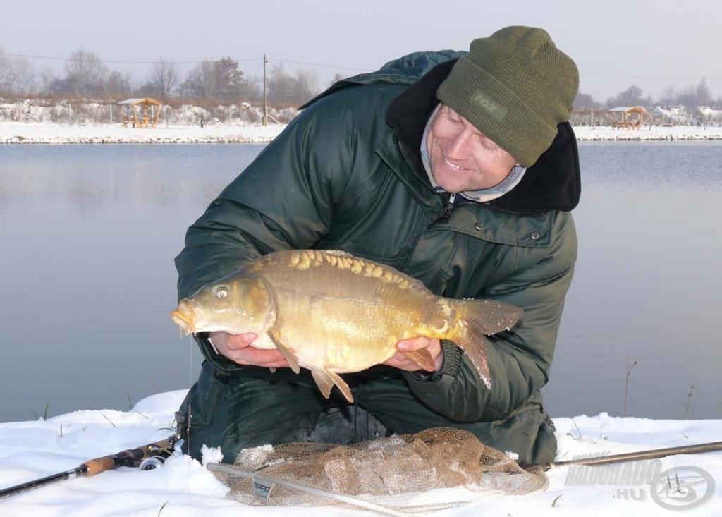 Öröm a horgászat ilyen időben, ha halat foghatok