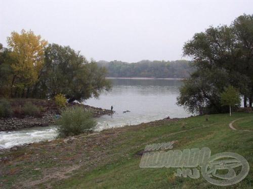 Itt folyik a Benta patak a Dunába