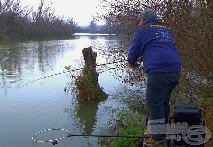 Téli pontyhorgászat folyóvízen
